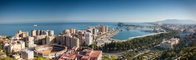 Vy över Malaga