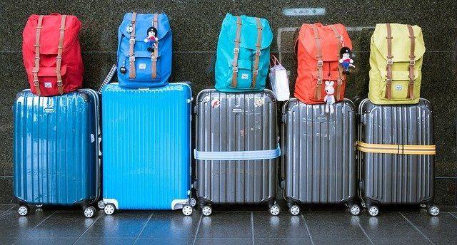 Bagage på flygplatsen i Malaga